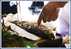 4.ご夕食 地物にこだわった食材を使用した四季彩豊なお料理